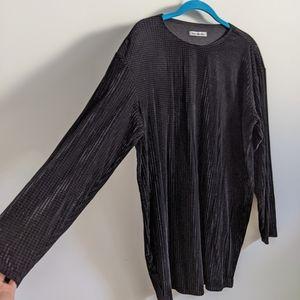 Reformation Long sleeve Velvet Shirt Dress M